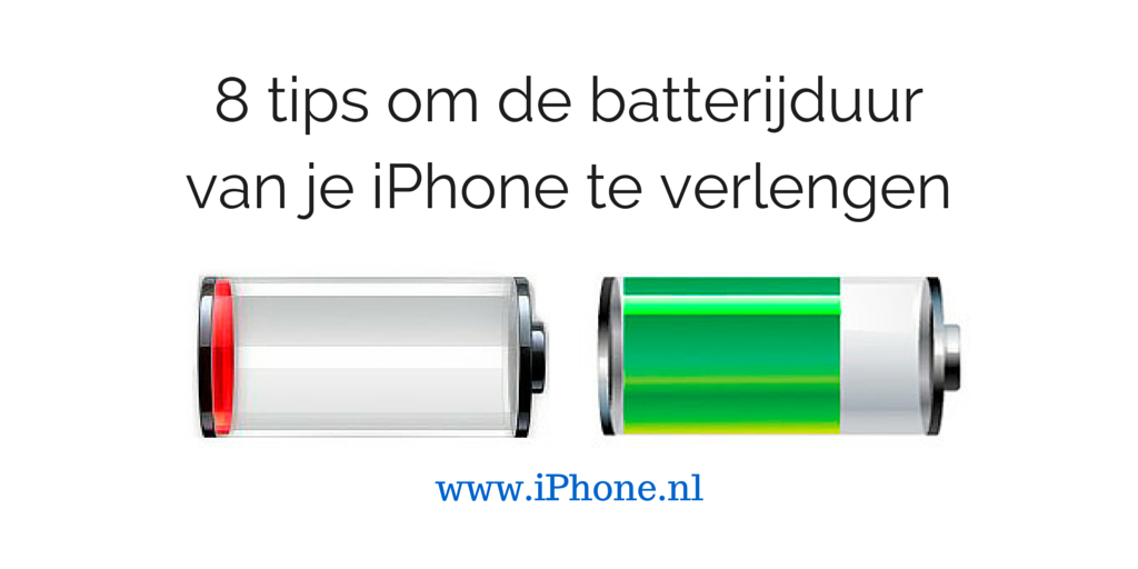 8 tips om de batterijduur van je iPhone te verlengen